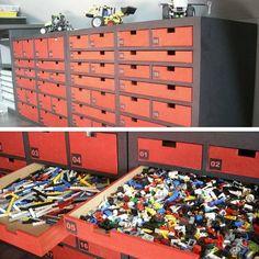 Meuble de rangement LEGO sur mesure en carton