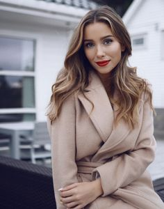 blush wrap coat | Emilie Tømmerberg