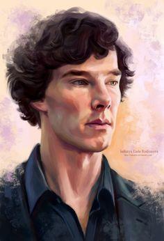 Sherlock by ladunya on DeviantArt Sherlock Poster, Sherlock Holmes 3, Sherlock Holmes Benedict Cumberbatch, Benedict Sherlock, Sherlock Fandom, Sherlock John, Sherlock Wallpaper, Digital Portrait, Johnlock