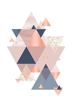 Abstract geometric design in blush pink, navy and copper Geometric Designs, Geometric Art, Geometric Background, Cute Wallpapers, Wallpaper Backgrounds, Iphone 7 Wallpaper Rose Gold, Navy And Copper, Design Art, Web Design
