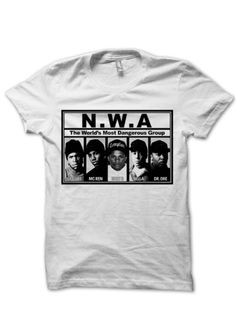CLASSIC NWA T-SHIRT DR. DRE ICE CUBE EAZY E SHIRTS FANS HIP HOP MUSIC RAP ARTISTS