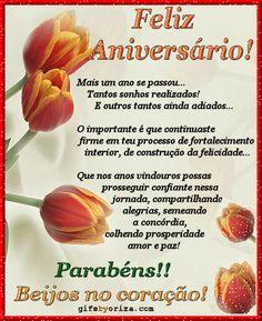 Happy Birthday, Birthdays, Romance, Internet, Flowers, Happy Birthday Sms, Boyfriend Birthday Messages, Portuguese Quotes, Pretty Quotes