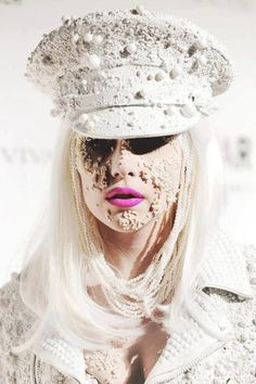 Gaga, pearl encrusted.