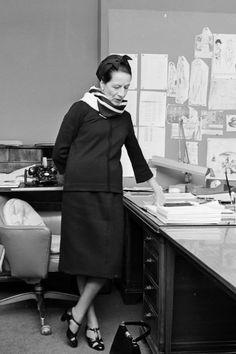 Diana Vreeland at work