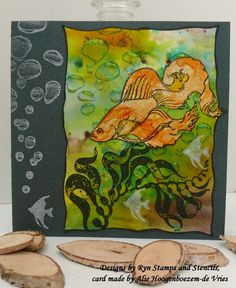 Alie Hoogenboezem-de Vries: Brusho and Designs by Ryn stamps...