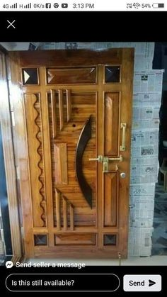 Front Door Design Wood, Wood Design, Doors, Furniture, Home Decor, Decoration Home, Room Decor, Home Furnishings, Home Interior Design