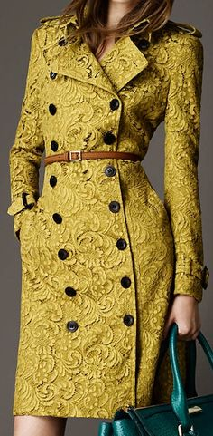 Burberry - 2013 - The Golden Special Yellow - lace coat jacket