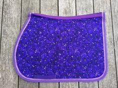 Custom Made English Saddle Pad Purple with Bling Trim