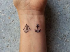 Simple Wrist Ship and Anchor Tattoos for Girls   Tattoos for Girls