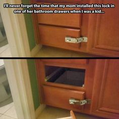Mom installs lock on bathroom drawer | Funny Memes CO - Where the funny memes go www.funnymemes.co