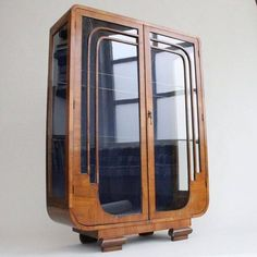 Gorgeous Art Deco Cabinet #artDeco Glass & Wood