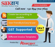 Having a great business deal are crucial when pitching innovative ideas to client. Saksham software is an Inventory, GST supported Invoice & Billing software with latest Technology, UI design & responsive to customer inquiries. Clients will get dynamic online access which enables to stay informed their business activities.