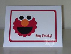 Elmo 2nd Birthday Card by PSUKim05 - Cards and Paper Crafts at Splitcoaststampers