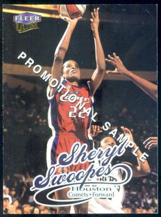 HOUSTON COMETS 1999 ULTRA SHERYL SWOOPES PROMO SAMPLE FREE SHIPPING