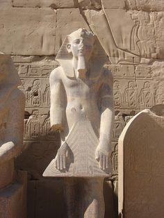 Ramses II statue, Karnak, Luxor, Egypt.