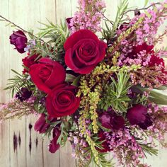 Reds purples pinks Red Purple, Pink, Our Wedding, Wedding Flowers, Floral Wreath, Wreaths, Home Decor, Floral Crown, Decoration Home