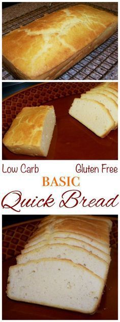 This basic quick bread can be enjoyed as toast for breakfast to complement eggs, to make a sandwich for lunch, or as a dinner appetizer. Low carb, gluten free, grain free recipe!