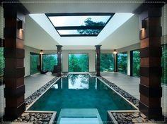 piscina piscinas casa dentro interna indoor coberta swimming luxo pools pool arquitetura casas mais interior imagens houses hotel decoracao decorando