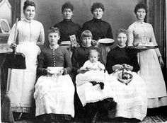 Photograph of a group of household servants in the early twentieth century. Service was the largest single category of Irish female employment in the United States at that time.