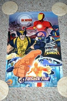 Marvel Nick Toons World's Greatest Superheroes Promo Poster Signed 4X