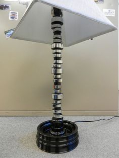 POLISHED Corvette camshaft lamp table/desk car