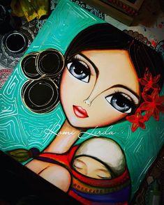 """La belleza del amor"" 50 x 50 #romilerdart #romilerdaespaciodearte #citybell 😇😍💟 Degas Plus Degas Plus Composition Painting, Indian Folk Art, Expressive Art, Arte Pop, Colorful Paintings, Tile Art, Art Plastique, Cute Drawings, Female Art"