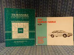 Details About 1991 Ford Taurus Mercury Sable Original Shop Troubleshooting Manual Set Mercury Sable Taurus Manual