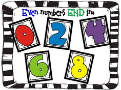 Step into 2nd Grade with Mrs. Lemons-even and odd