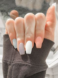 Acrylic Nails Coffin Short, Simple Acrylic Nails, Fall Acrylic Nails, Acrylic Nails Designs Short, Short Square Acrylic Nails, Acrylic Nail Designs For Summer, Squoval Acrylic Nails, Acrylic Nail Designs Coffin, Fall Gel Nails