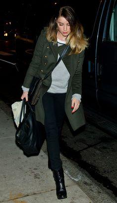 Amber Heard out in Philadelphia, December 3rd