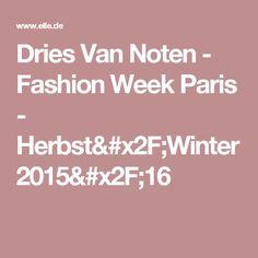 Dries Van Noten - Fashion Week Paris - Herbst/Winter 2015/16