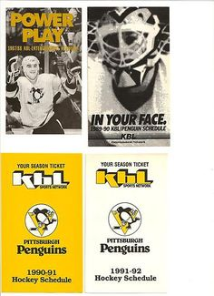 1989-90 Pittsburgh Penguins KBL/PharxMor Hockey Schedule