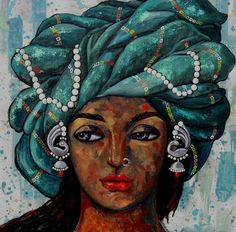"""Recently sold on IndianArtCollectors.com!  """"Contemplation_66853"""" by Suruchi Jamkar Acrylic On Canvas, Size(inches): 24X24  See more artworks by Suruchi Jamkar at: http://www.indianartcollectors.com/artist/SuruchiJamkar"""