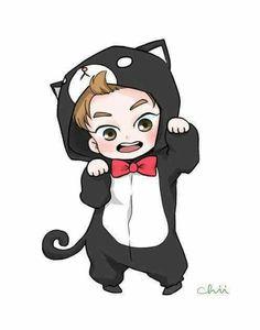 Exo xiumin fanart very very cute Exo Xiumin, Kpop Exo, Kaisoo, Kpop Fanart, Chibi Exo, Exo Cartoon, Anime Bebe, Exo Stickers, Exo Anime