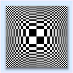 Optical Art From Pure Mathematics Optical Illusion Quilts, Art Optical, Optical Illusions, Optical Illusion Gif, Illusion Kunst, Illusion Art, 3d Quilts, Kinetic Art, Geometric Art