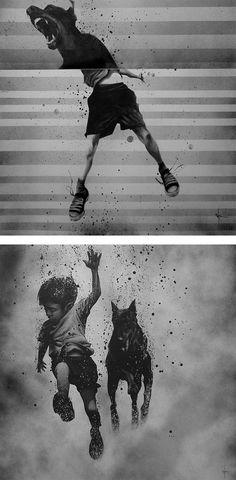 Black & White Illustrations by Sit Haiiro | Inspiration Grid | Design Inspiration