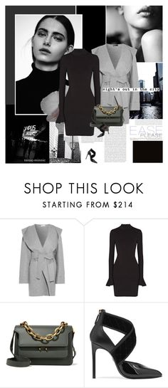 """Black and Grey"" by rainie-minnie ❤ liked on Polyvore featuring Oris, Barbara Casasola, MICHAEL Michael Kors, Marni and Lanvin"