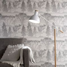 Mirage Grey Wallpaper by Graham and Brown