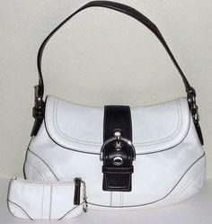 Coach Buckle Leather Shoulder Bag