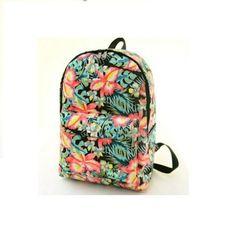 39da9babda92 Artsivaris Women Canvas Backpack Flowers Cat Multi-Design School Rucksack