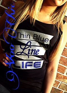Thin Blue Line Life Tanky on Etsy, $40.00