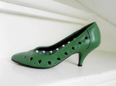 Vintage Studio Diego groene sexy pumps shoes (1974)