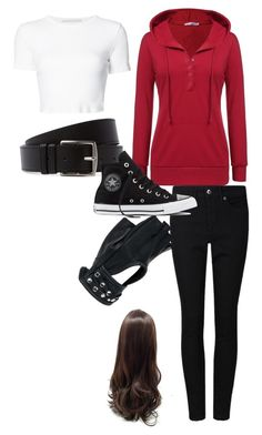 """""""Aaron gender swap"""" by roleplay-748 ❤ liked on Polyvore featuring Rosetta Getty, Wilsons Leather, Hermès and Converse"""