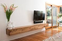 Recoleta floating entertainment unit - B. Living Tv, Condo Living Room, Living Room Tv Unit, Living Room Decor, Floating Entertainment Unit, Floating Tv Unit, Floating Tv Cabinet, Wood Tv Unit, Tv Wall Design