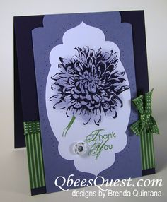 Purple Bloom Card by Qbee - Cards and Paper Crafts at Splitcoaststampers