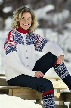 Marius-kofte.   Gorgeous, but difficult to keep the elbows and cuffs perfectly white whilst skiing all day.....