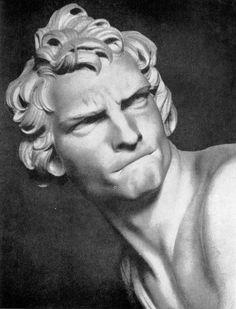 Бернини. Давид. Фрагмент. Мрамор. 1623 г. Рим,, галлерея Боргезе.
