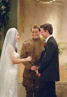 Courteney Cox, Matt LeBlanc and Matthew Perry in Friends