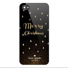 Rare Kate Spade Merry Christmas Gold Custom Hard Plastic Case iPhone 5/5s 6/6s+ #UnbrandedGeneric