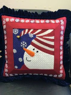 Another Pepperberry Needlepoint Snowman!